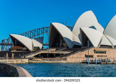 SYDNEY - MARCH 8: Close up view of the iconic Sydney Opera House on March 8, 2016 in Sydney, Australia.