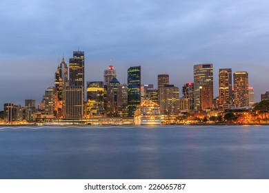 SYDNEY - MAY 10: City scape of Sydney at twilight on May 10, 2014 in Sydney. It is the state capital of New South Wales and the most populous city in Australia.