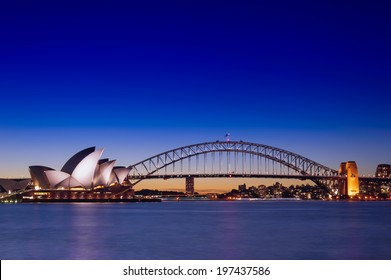 SYDNEY - May 11: The Sydney Opera House, viewed from Botanic Garden in Sydney, Australia on May 11, 2014. It was designed by Danish architect Jorn Utzon.