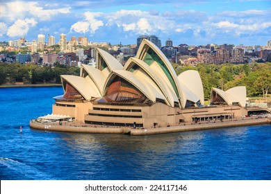 SYDNEY - MAY 11: Sydney Opera House on May 11, 2014 in Sydney. It is Identified as one of the 20th century's most distinctive buildings and one of the most famous performing arts centres in the world.