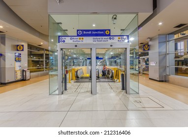 SYDNEY - MAY 15: Bondi Junction Station on May 15, 14 in Bondi. It's located underground with a bus terminal and shopping centre above with the sixth busiest station on the Sydney Trains network.
