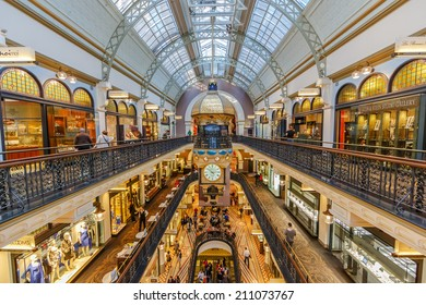 SYDNEY - MAY 15: People shop at Queen Victoria Building (QVB) on May 15, 2014 in Sydney. It is a late nineteenth-century building designed by the architect George McRae in Sydney, Australia.