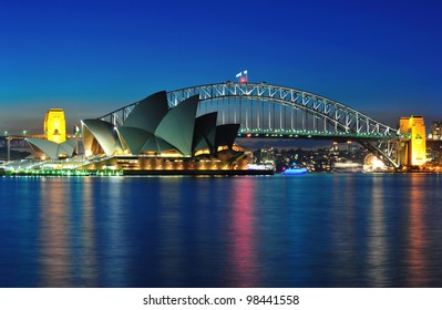 SYDNEY - MAY 21: The Sydney Opera House, viewed from Mrs Macquarie's Chair in Sydney, Australia, on May 21, 2011, was designed by Danish architect Jorn Utzon.