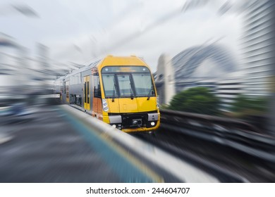 Sydney moving train