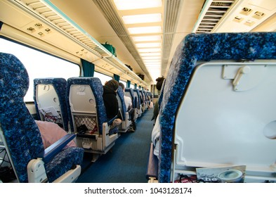 SYDNEY, NEW SOUTH WALES, AUSTRALIA. - On March 7, 2018. – NSW trainlink regional train service, the image shows inside the economy class carriage.