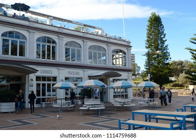 Sydney, New South Wales, Australia. June 2018. The Coogee Pavilion at Coogee Beach in Sydney. Coogee is the destination in Sydney's well-known Bondi to Coogee Walk