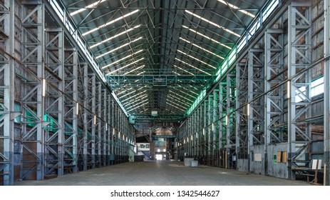 Sydney, New South Wales, Australia - January 2 2018: Turbine sheds of the Commonwealth Dockyard (1913-33) at the dockyard site of Cockatoo Island.