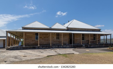 Sydney, New South Wales, Australia - January 2 2018: Biloela House (c. 1841), the superintendent's residence at Cockatoo Island. Designed by Colonel George Barney, the Commanding Royal Engineer.