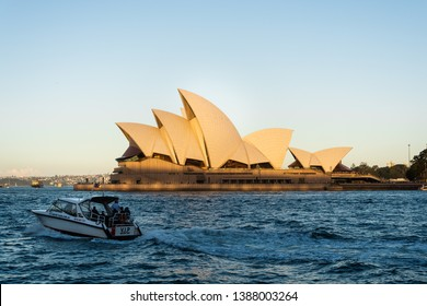 Sydney, New South Wales, Australia - Apr 20,2019. The Sydney Opera House, it is one of the 20th century's most famous and distinctive buildings