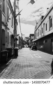 Sydney, New South Wales, Australia - JUNE 23rd, 2018: Looking down a quiet Newtown side street.