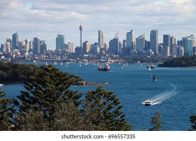 Sydney, New South Wales, Australia - July 8 , 2017 : View of Sydney City , view from Gap Bluff , Watson Bay
