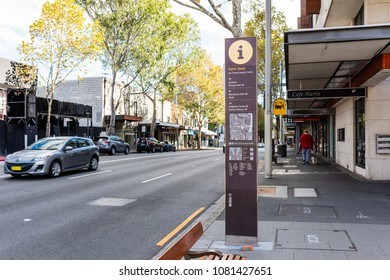 SYDNEY, NEW SOUTH WALES/AUSTRALIA, APRIL 22ND: Image of a street sign in Harris Street, Ultimo, Sydney on 22nd April, 2018 in Sydney