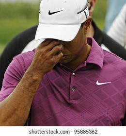 SYDNEY - NOV 10: Tiger Woods at the Emirates Australian Golf Open. Sydney - November 10, 2011