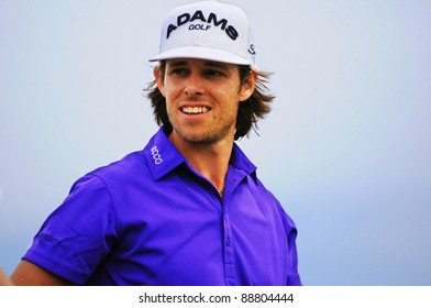 SYDNEY - NOV 13: Aaron Baddeley in the Emirates Australian Open at The Lakes golf course. Sydney - November 13, 2011