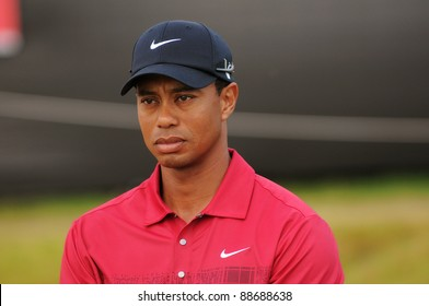 SYDNEY - NOV 13: - Tiger Woods third place at 11 under at the Emirates Australian Open at The Lakes golf course. Sydney - November 13, 2011