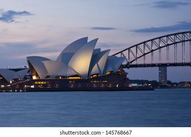 SYDNEY - NOV 7: The Sydney Opera House, viewed from Circular Quay in Sydney, Australia on November 7, 2011. It was designed by Danish architect Jorn Utzon.
