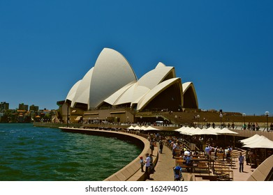 SYDNEY - NOVEMBER 6: Sydney Opera House view on November 6, 2013 in Sydney, Australia. The Sydney Opera House is a famous arts center. It was designed by Danish architect Jorn Utzon.