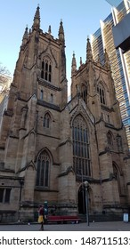 Sydney, NSW/ Australia- 07 11 2019: St Andrew's Cathedral, 1400 George Street Sydney. The oldest cathedral in Australia designed primarily by Edmund Blacket.