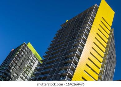 Sydney, NSW Australia April 06 2012 Arquitecture  yellow