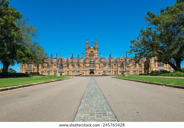SYDNEY, NSW, AUSTRALIA - December 26, 2014: Historic Quadrant Building at Sydney University, Australia.