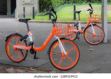 Sydney NSW Australia Jan 13th 2019 - MoBike Bicycle for Rental
