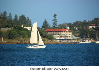 Sydney, NSW / Australia - Jan 6, 2018 View of Vaucluse Sailing Club