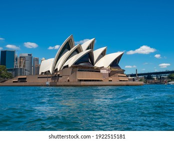 Sydney NSW Australia - January 10th 2021 - View of Sydney Opera House and CBD Background Blur on a Sunny Summer Afternoon