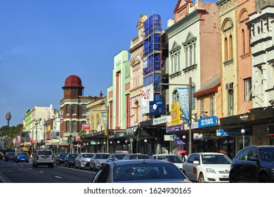 Sydney, NSW / Australia - January 21 2020: Best Restaurants in Newtown. Pictured is King Street Newtown shopping and restaurant strip streetscape