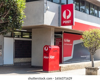 Sydney NSW Australia - January 21st 2020 - Australia Post Box in front of the Post Office Store in Mosman on a sunny summer morning