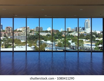 Sydney, NSW / Australia - Jul 30 2016 : The Beautiful wide view of city in central business district Sydney Australia from panorama windows