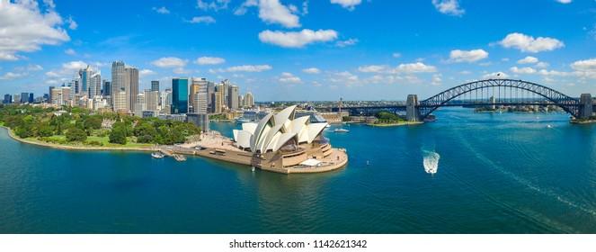 Sydney, NSW, Australia - July 1st 2017: Cityscape of Sydney Australia