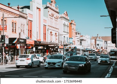 """""""Sydney, NSW / Australia - July 23, 2017: The people walking down the streets in Newtown where plenty of art and outdoor activities are present in every corner"""""""
