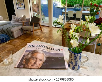 SYDNEY, NSW, AUSTRALIA - MAY 17 2019. FORMER PRIME MINISTER, BOB HAWKE DEAD AT 89 ON FRONT PAGE OF THE AUSTRALIAN NEWSPAPER. BOB HAWKE DIED ON MAY 16 2019. LABOR PRIME MINISTER AND ADORED BY MANY.