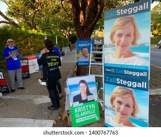 SYDNEY, NSW, AUSTRALIA – MAY 18 2019. VOTERS TURN OUT. The 2019 Australian federal election held on Saturday 18 May 2019 to elect members of the 46th Parliament of Australia.