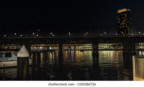 Sydney, NSW / Australia - May 2018. The darling harbour in the night.