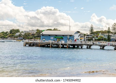 Sydney NSW Australia - May 27th 2020 - Watsons Bay Wharf on a sunny autumn afternoon with blue sky and clouds