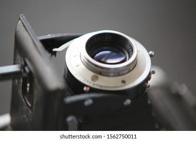 Sydney, NSW / Australia - Nov 18th 2019 - a close-up of a vintage Voigtlander Bessa 1with fold out lens.