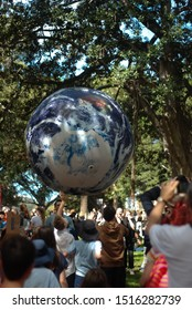 Sydney, NSW / Australia - September 20, 2019. Protesters gather in St James and rally for Governmental action against climate change.