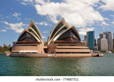 SYDNEY, NSW/AUSTRALIA - 21th february 2017: Opera House and cityscape from the ferry by a sunny day