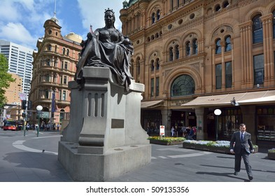 SYDNEY - OCT 20 2016:Queen Victoria Building faced.It's a very famous city mall and a major tourist attraction in Sydney New South Wales, Australia.