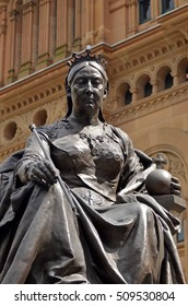 SYDNEY - OCT 20 2016:Queen Victoria Statue in Sydney City New South Wales  Australia. Victoria was Queen of the United Kingdom of Great Britain and Ireland from 20 June 1837 until her death.