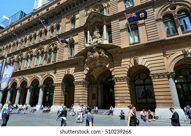 SYDNEY - OCT 20 2016:Sydney General Post Office.The General Post Office Building is a landmark building located in Martin Place, Sydney New South Wales Australia.