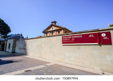 SYDNEY - October 12: HYDE PARK BARRACKS MUSEUM 1819, a world  heritage australian convict site, October 12, 2017 in Sydney,   Australia.