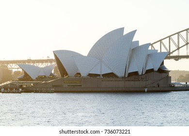 SYDNEY - October 12: Sydney Opera House view on October 12, 2017 in Sydney, Australia. The Sydney Opera House is a famous arts center. It was designed by Danish architect Jorn Utzon