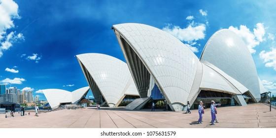 SYDNEY - OCTOBER 2015: Sydney Opera House. Sydney attracts 30 million people annually.