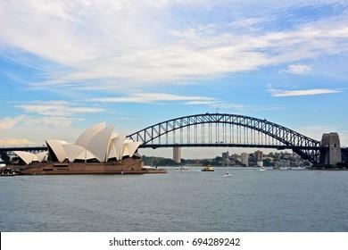 Sydney Opera and Bridge Harbor