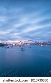Sydney Opera house the Australia day twilight 2018