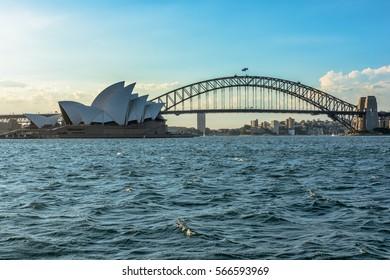 Sydney Opera House Sydney Australia . JAN 29,2017 Sydney Opera House is modern building, well known worldwide.