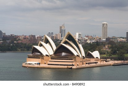 Sydney Opera House in Sydney Harbor, Australia