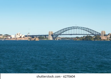 sydney opera house and harbor bridge on the harbour
